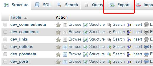 Hướng dẫn backup CSDL MySQL wordpress