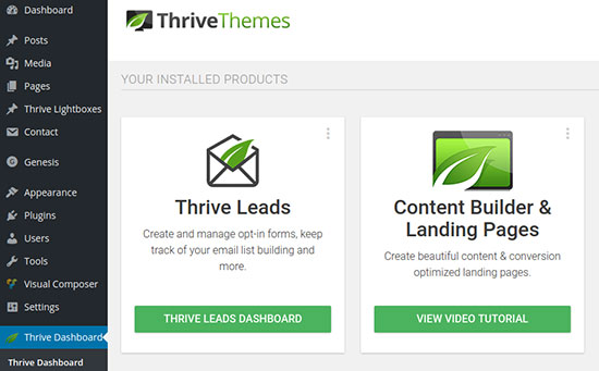Tạo Landing Page wordpress nhanh với plugin Thrive Landing Pages