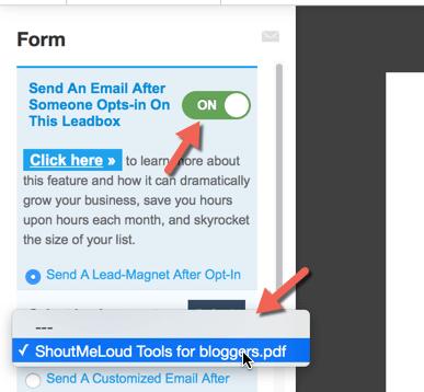 Tặng quà người dùng khi để lại email với Lead Magnet