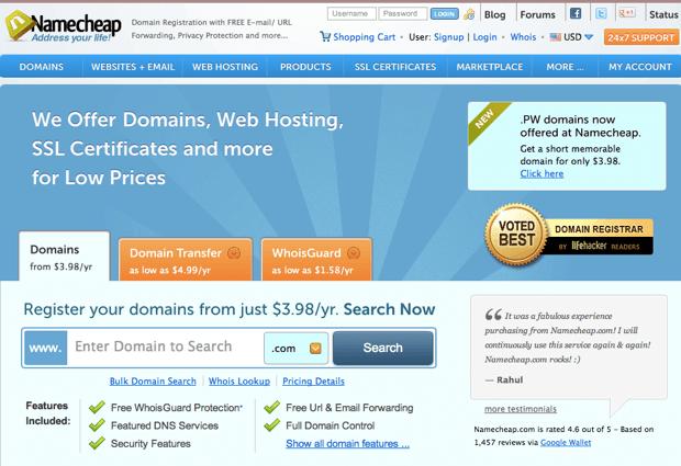 Mua tên miền giá rẻ với top 4 nhà cung cấp dịch vụ hàng đầu