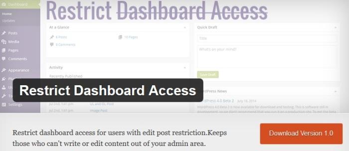 Phân quyền người dùng truy cập admin wordpress