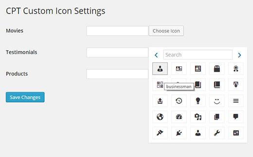 Tạo icon cho custom post type WordPress tối ưu cho seo