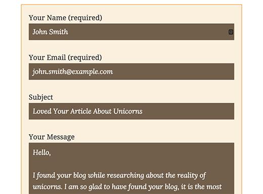Tạo giao diện đẹp cho contact form 7 wordpress