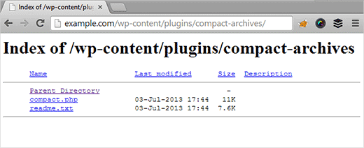 Chống hack file từ trình duyệt wordpress