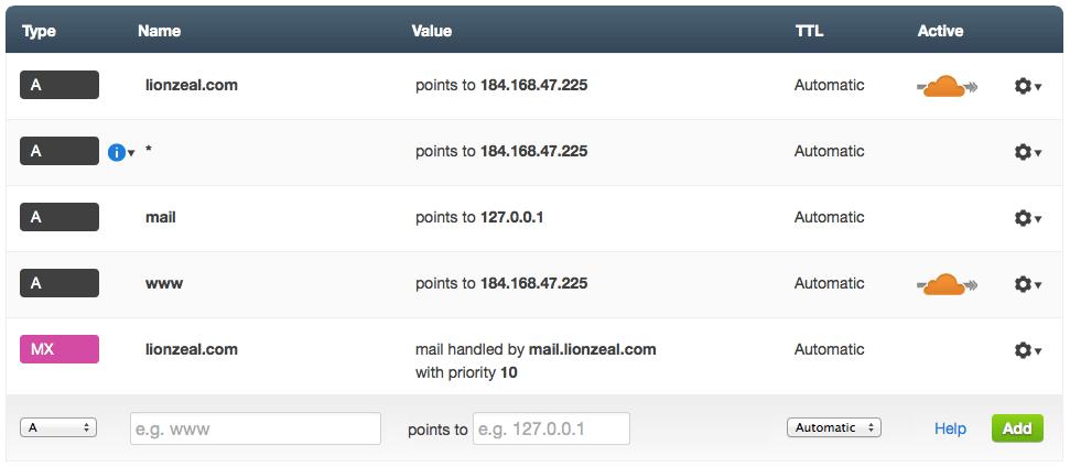 Hướng dẫn sử dụng CloudFlare như DNS server