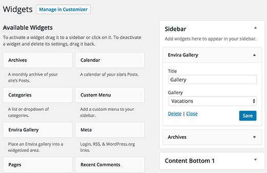 Cách hiển thị Widget wordpress cho người mới bắt đầu