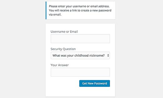 Cách tạo câu hỏi bảo mật trong khung đăng nhập wordpress