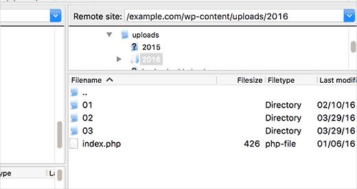 Tìm thư mục lưu ảnh file upload của wordpress