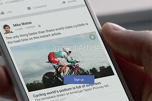 Tối ưu Facebook Instant Articles với WordPress