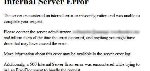Lỗi wordpress: Internal Server Error