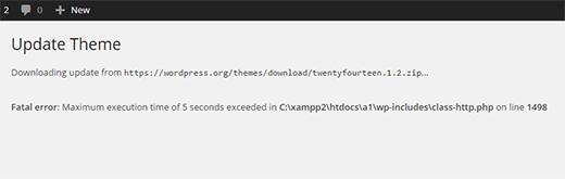 Lỗi wordpress Fatal Maximum Execution Time Exceeded và cách khắc phục