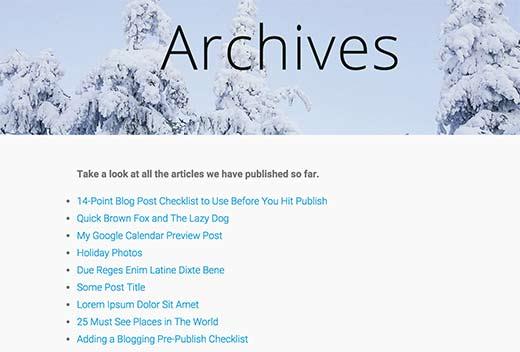 Các cách hiển thị danh sách tất cả bài viết trên trang wordpress
