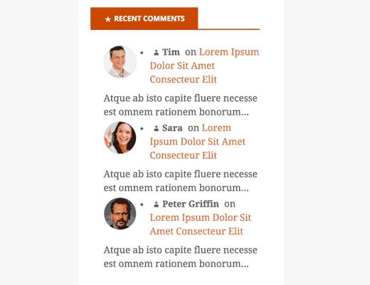 Hiển thị bình luận/comment mới nhất ở sidebar wordpress