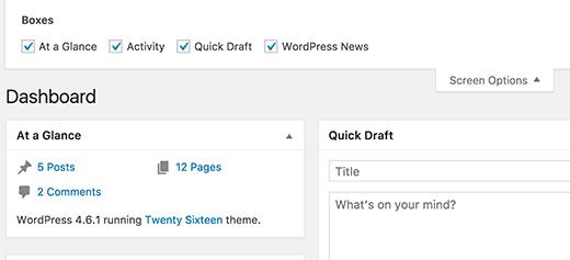 "Xóa ""Welcome to wordpress"" trong phần admin"