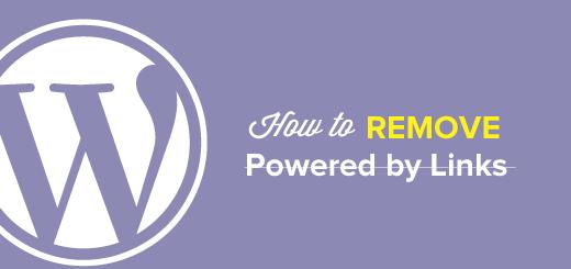 Cách bỏ dòng Powered By WordPress không cần plugin
