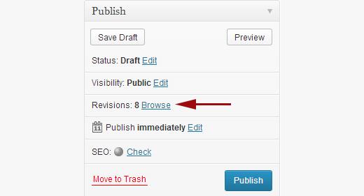 Restore bài Post, phiên bản Post trước đó với Post Revisions