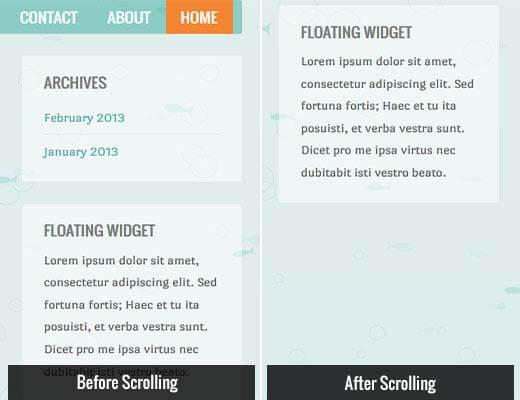 Top 12 widget sidebar được sử dụng nhiều nhất