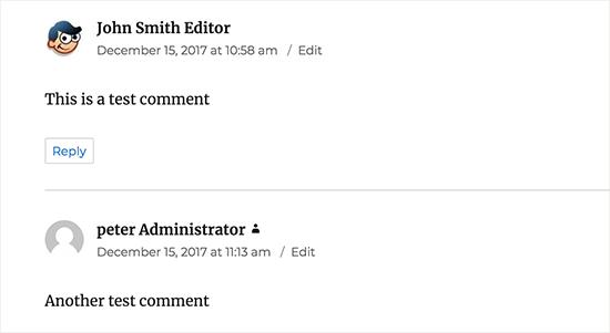 Hiển thị quyền người dùng bên cạnh tên trong comment wordpress