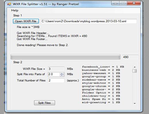 Chia nhỏ file xuất dữ liệu/export data XML Wordpress
