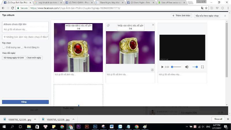 Cách đăng hình ảnh và video trong cùng 1 bài trên Fanpage