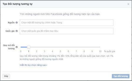 Đối tượng tương tự Facebook là gì?