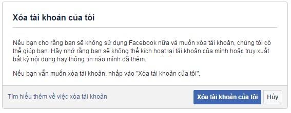 Hướng dẫn xóa vĩnh viễn tài khoản Facebook đơn giản