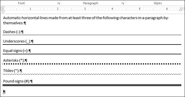 Hướng dẫn xóa đường kẻ ngang trong file Word