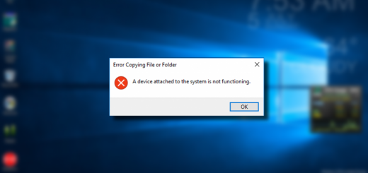 [Fixed 100%] Lỗi  A device attached to the system is not functioning