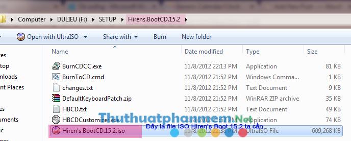 Hướng dẫn tạo USB Boot Hiren's full chức năng, nhẹ nhất