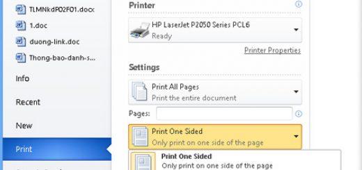 Hướng dẫn in 2 mặt file Word nâng cao