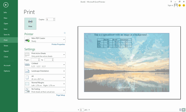 Hướng dẫn tạo nền trong file Excel nhanh chóng
